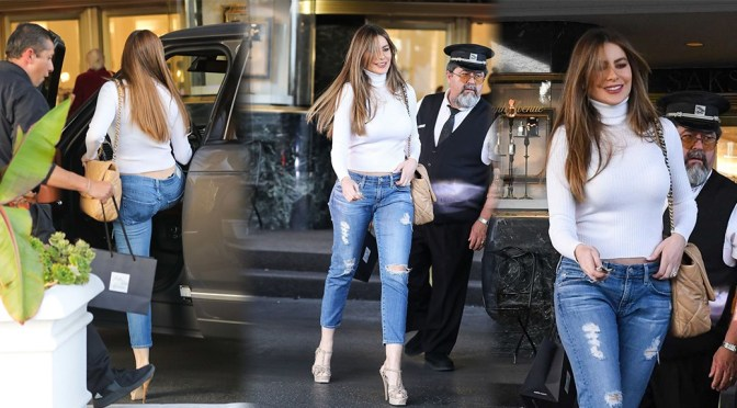 Sofia Vergara – Sexy Boobs at Saks Fifth Avenue in Beverly Hills