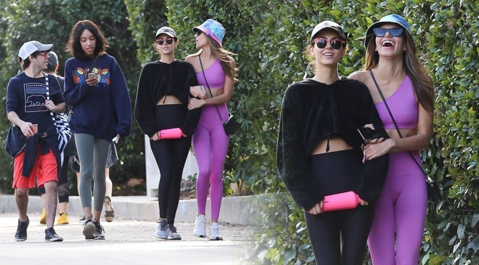 Victoria Justice & Madison Reed Sexy in Leggings at Fryman Canyon in Studio City