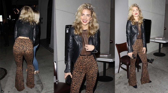 AnnaLynne McCord – Braless Boobs and Sexy Ass at Craigs in West Hollywood