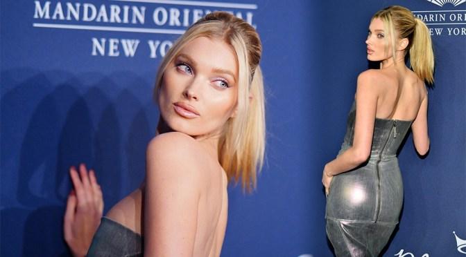 Elsa Hosk – Sexy Ass in Silver Dress at 2020 amfAR New York Gala