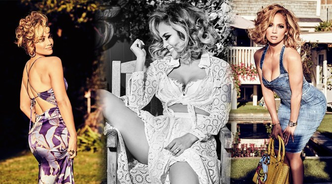 Jennifer Lopez – Sexy Ass and Boobs in Guess Girl Spring 2020 Campaign