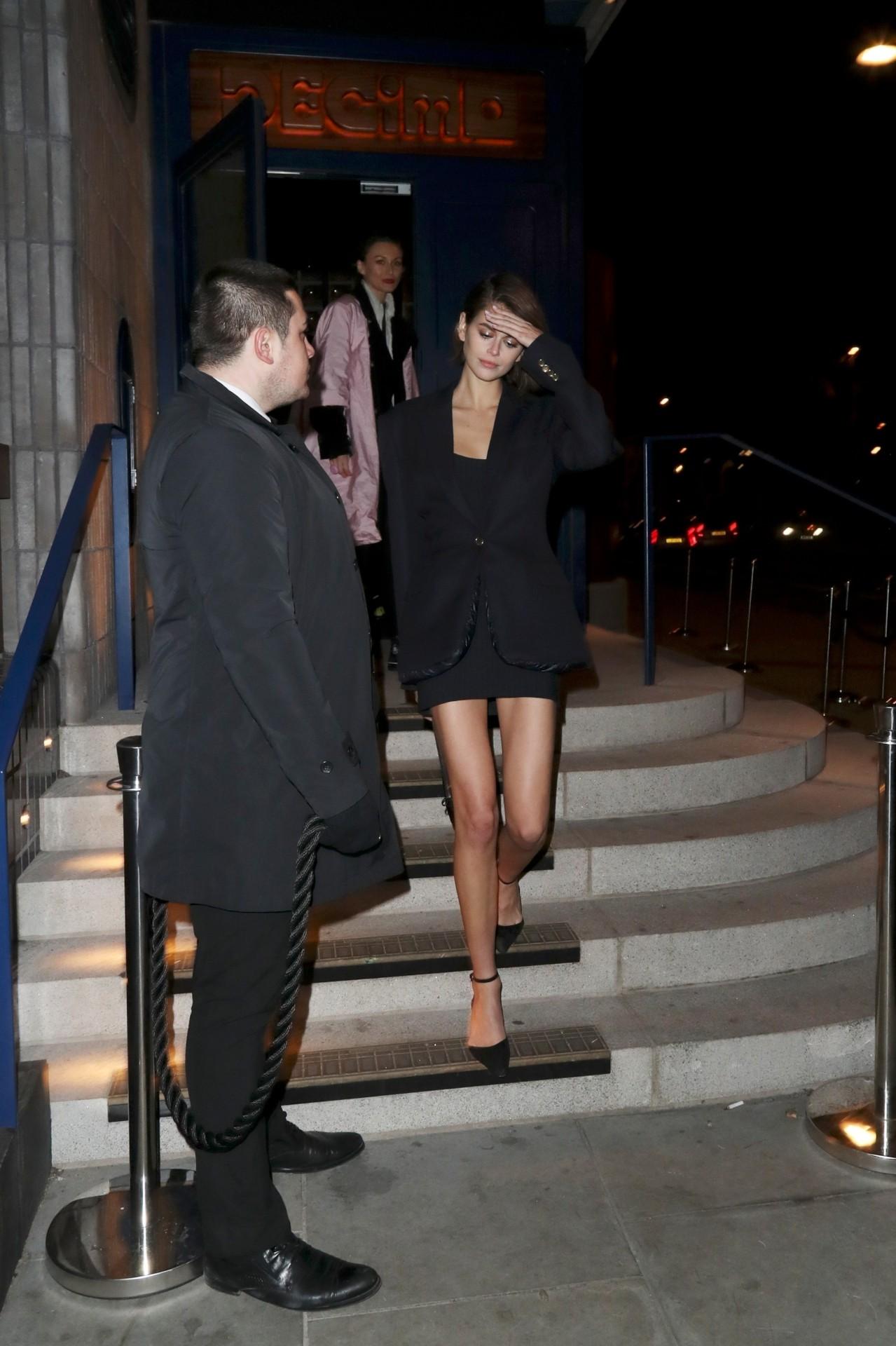 Kaia Garber Sexy Legs In Mini Skirt