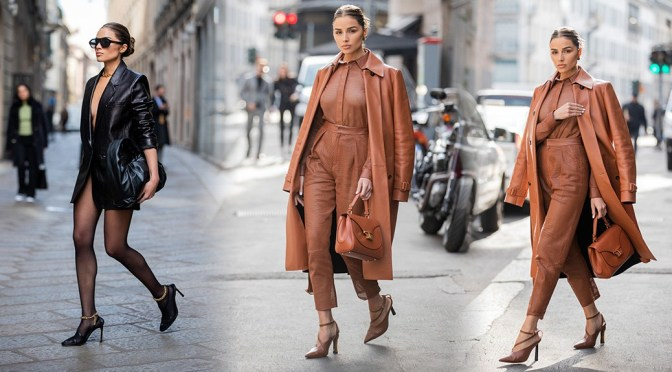 Olivia Culpo – Sexy Legs and Braless Boobs Out in Milan