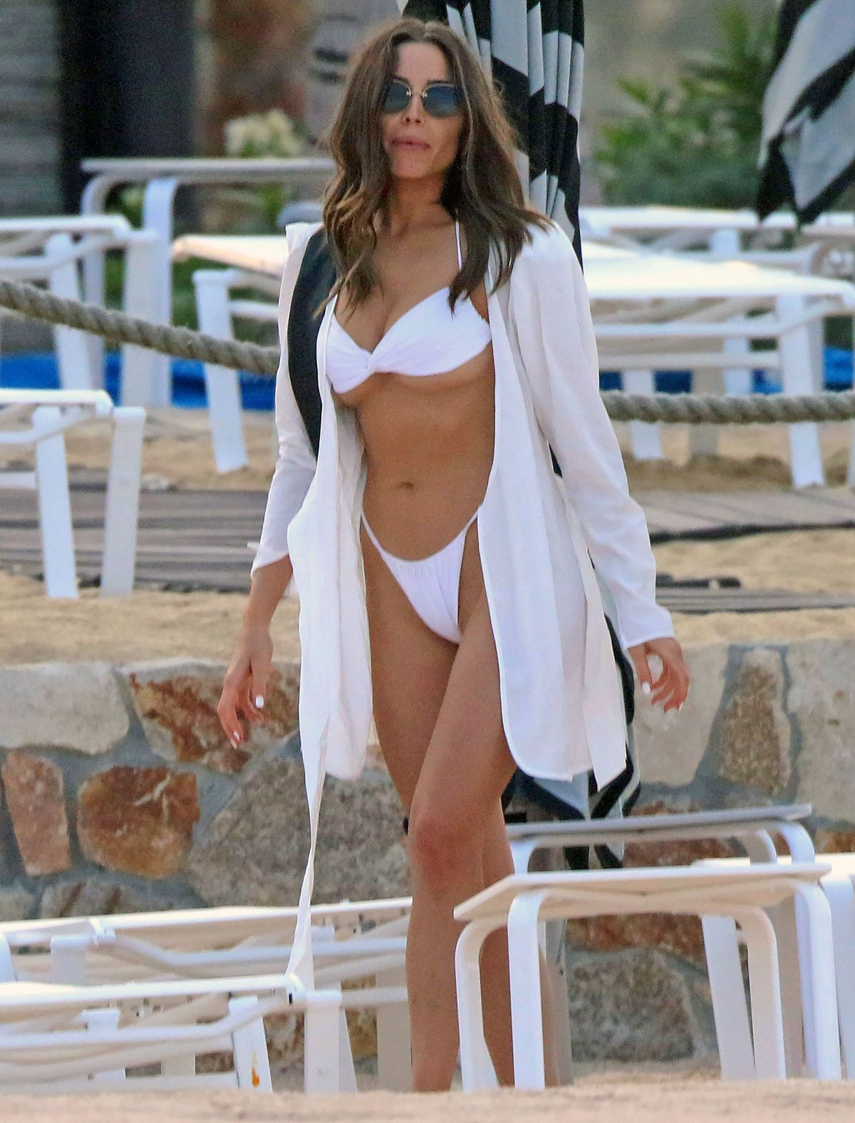 Olivia Culpo Tiny White Bikini