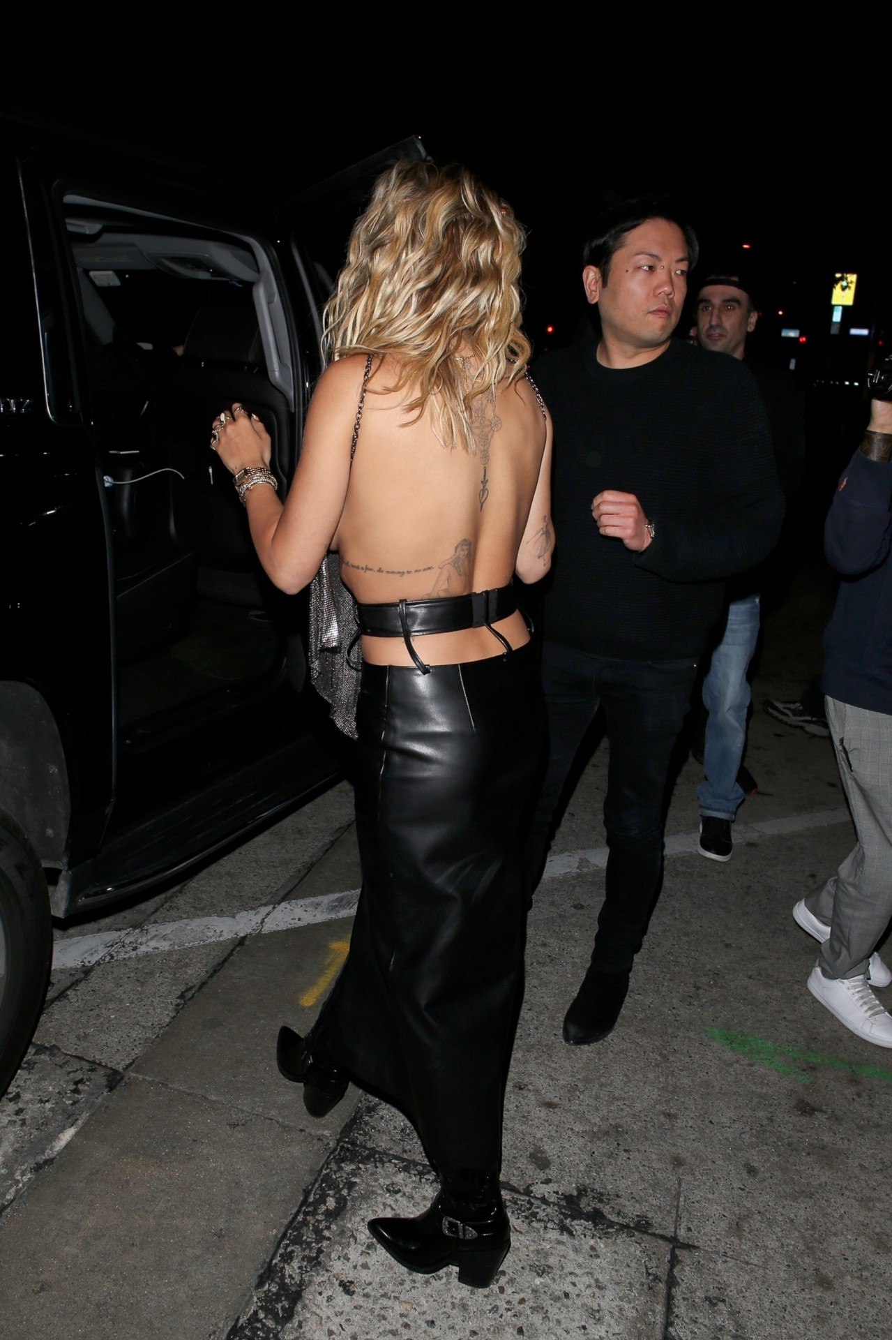 Rita Ora Braless See Through Top