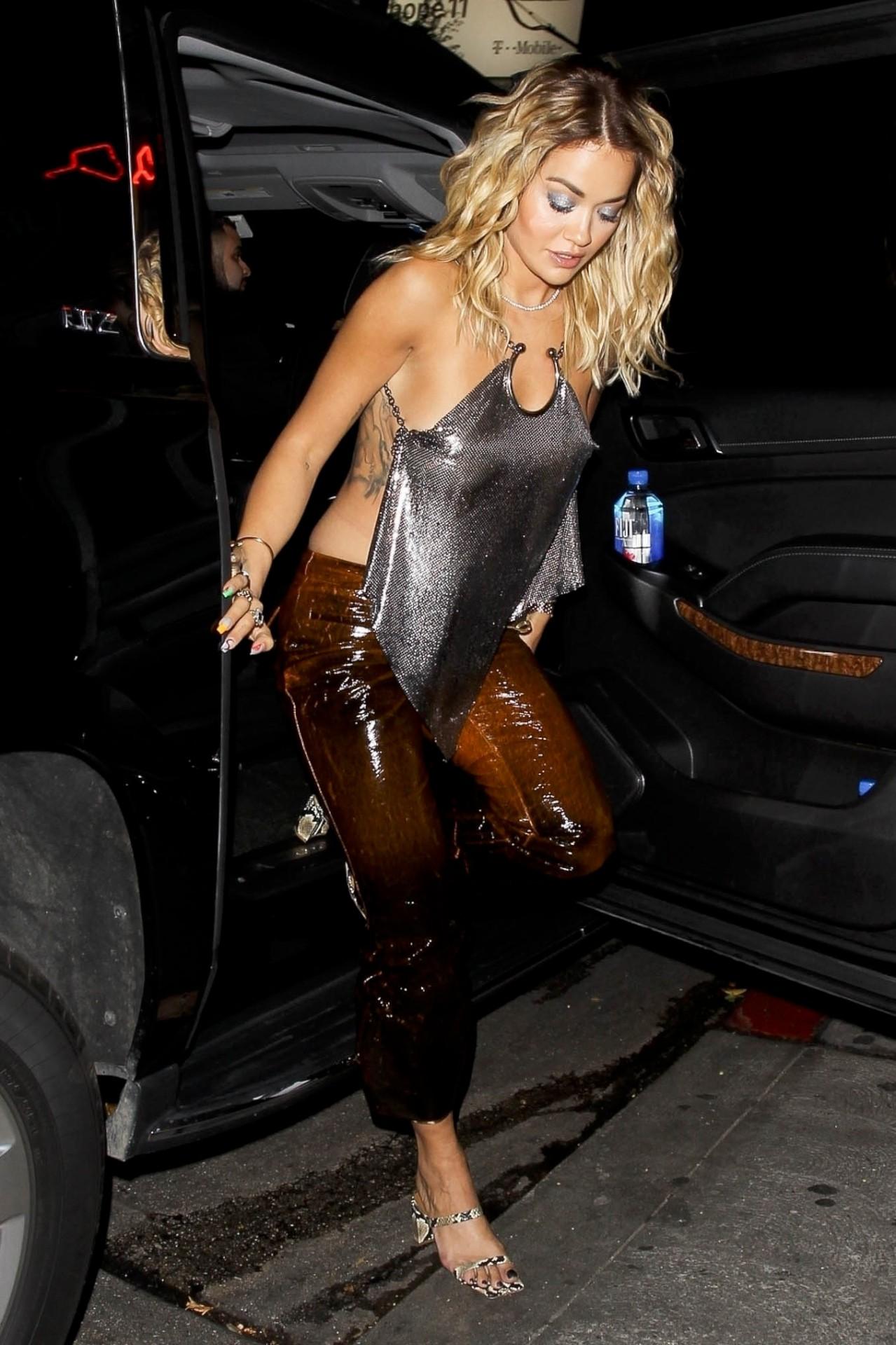 Rita Ora Hot Braless Boobs