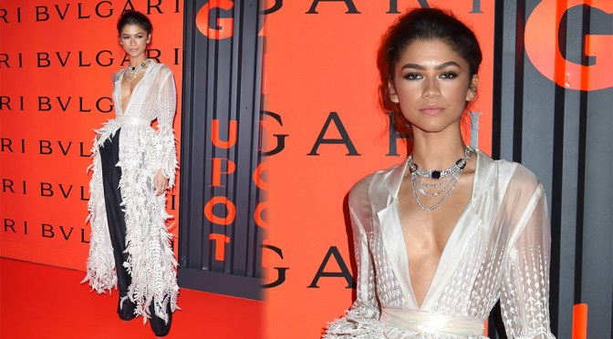 Zendaya – Sexy Braless Boobs at the Bvlgari B.zero1 Rock Collection Event in New York