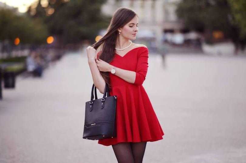 Ariadna Majewska Sexy Red Dress