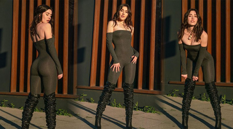 Audrey Braford Sexy In Boots And Bodysuit