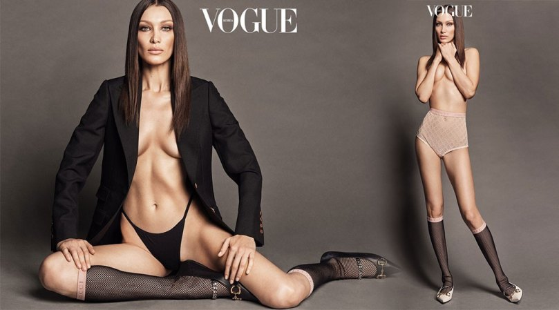 Bella Hadid Hot Braless Pictures