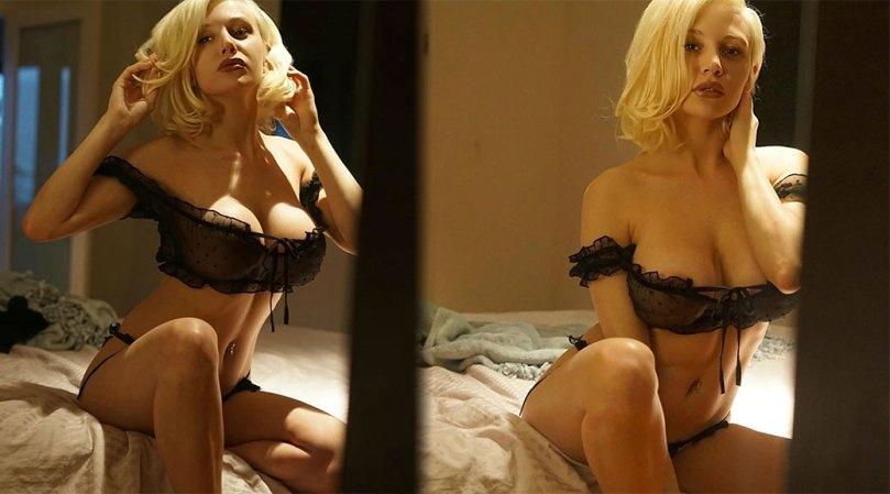 Courtney Stodden Hot Big Boobs In Sheer Black Lingerie