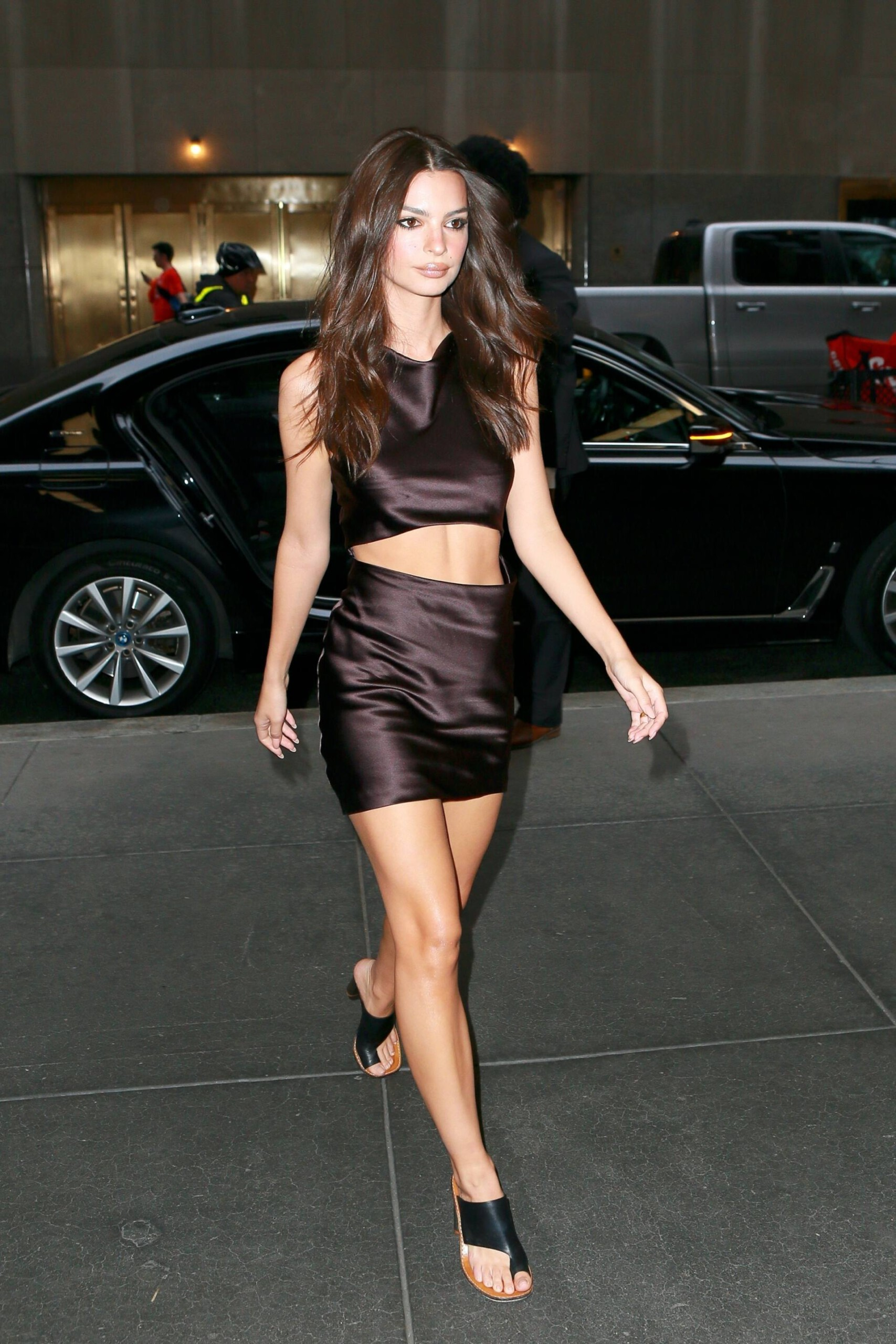 Emily Ratajkowski Hot Mini Skirt