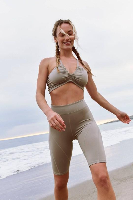 Hannah Ferguson Sexy Leggings