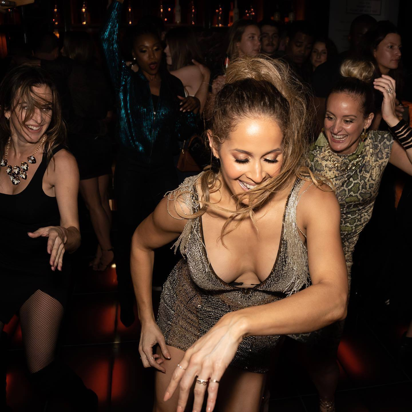 Jaina Lee Ortiz Show Off Her Hot Body Wearing Sexy Dress At Her Birthday Party.