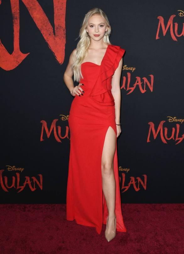 Jordyn Jones Beautiful Red Dress