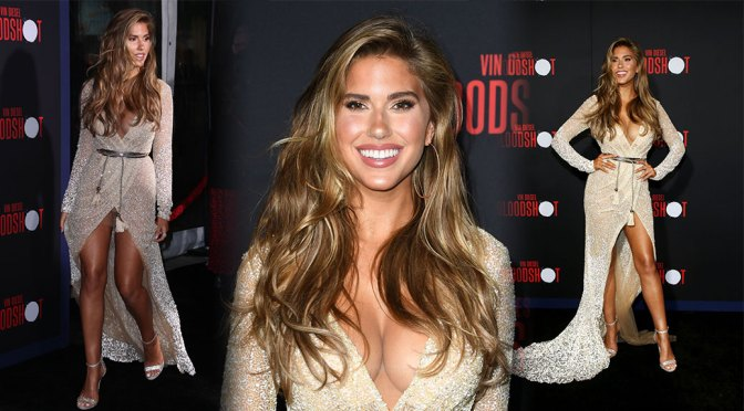 "Kara Del Toro – Beautiful Big Boobs and Sexy Upskirt at ""Bloodshot"" Premiere in Los Angeles"