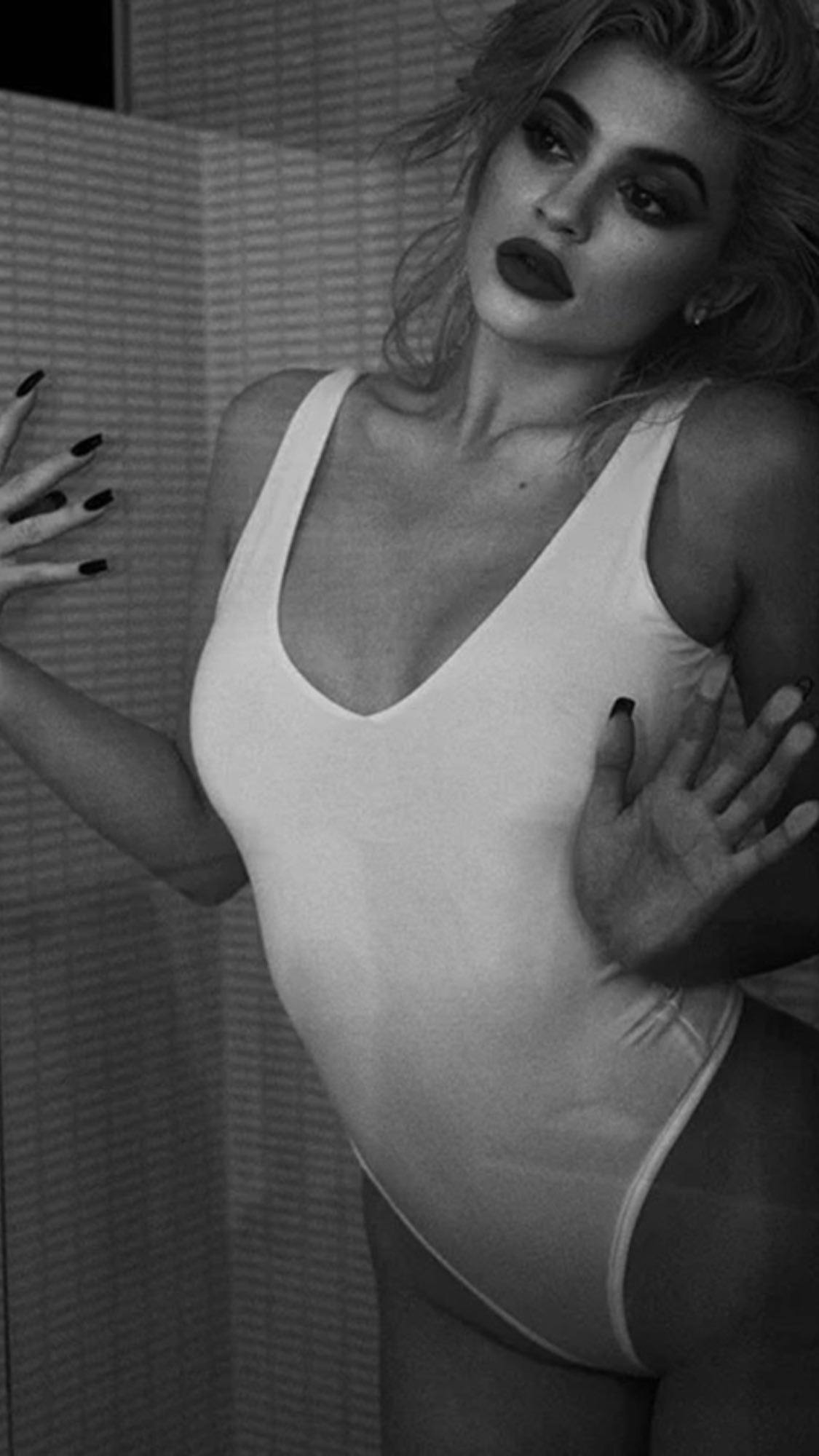 Kylie Jenner White Swimsuit