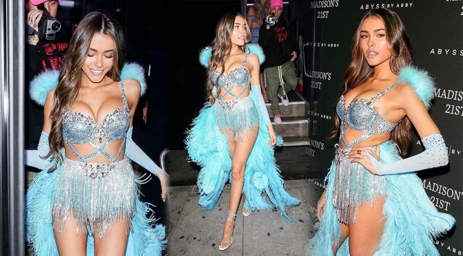 Madison Beer Big Sexy Boobs And Legs In Slutty Outfit