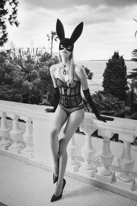 Noel Capri Berry In Sexy Lingerie