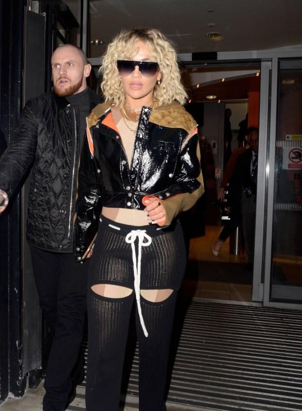 Rita Ora Sheer Sexy Pants
