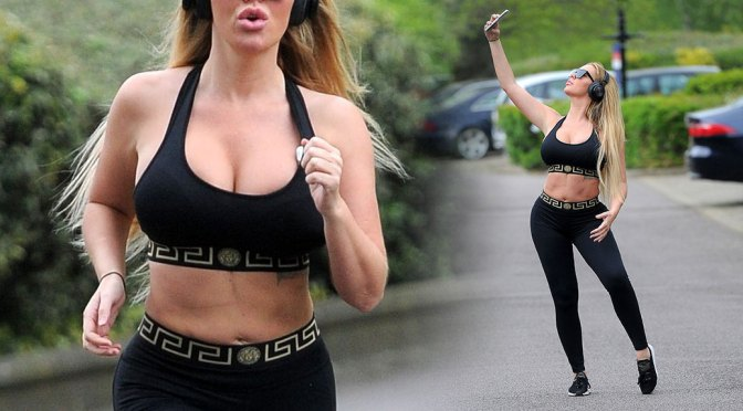 Aisleyne Horgan-Wallace – Big Boobs in Sexy Exercise Pictures in London