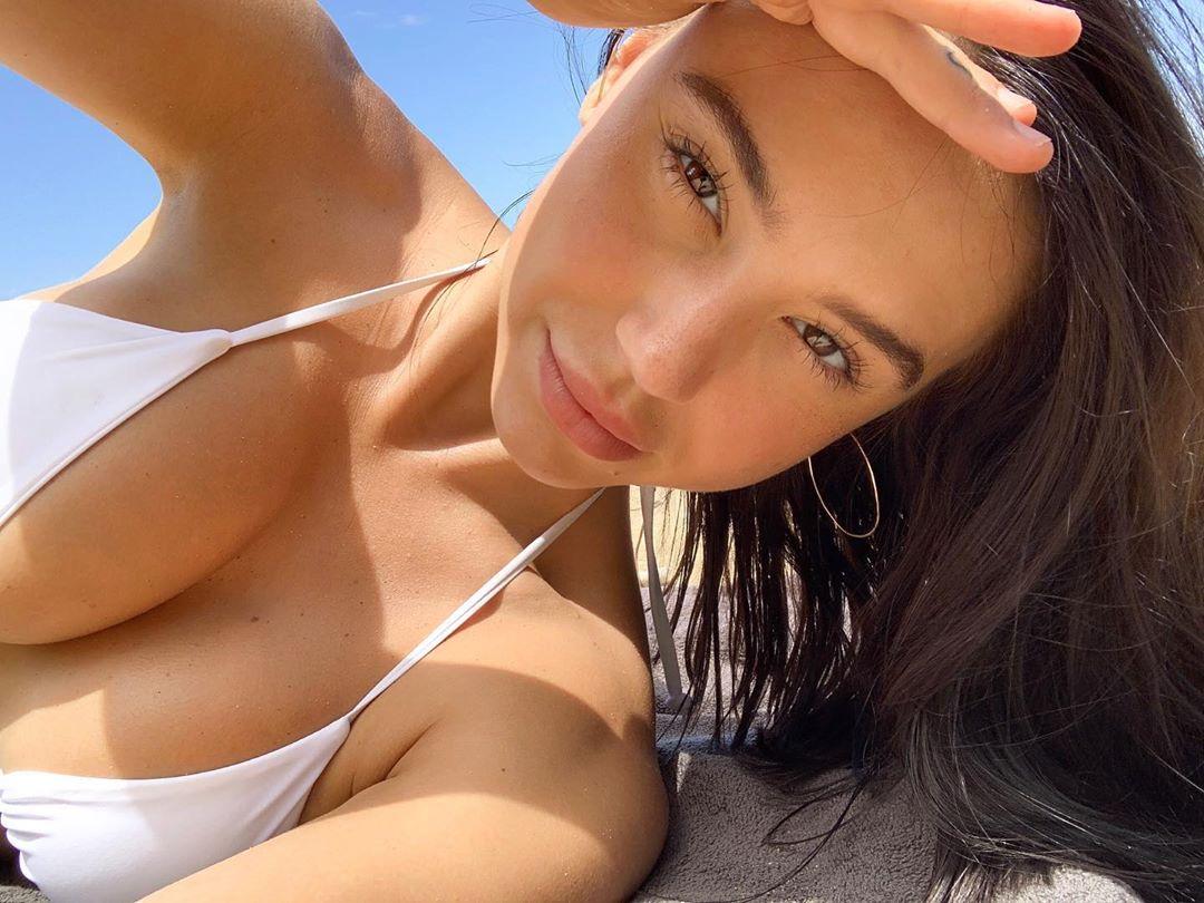 Alexis Ren Beautiful In Sexy White Bikini