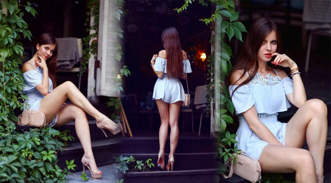 Ariadna Majewska – Beautiful Legs in High Heels and Short Dress