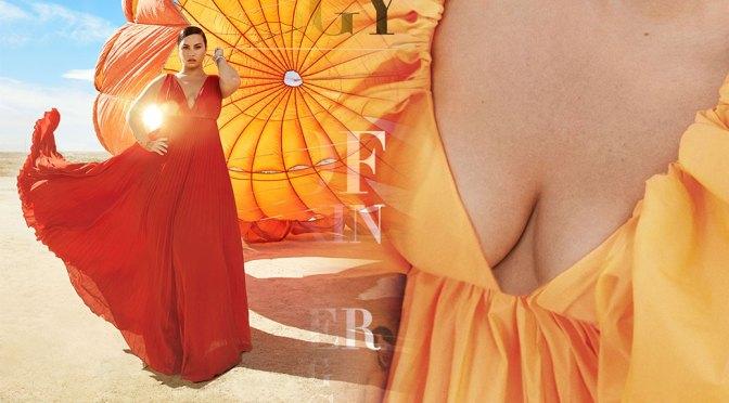 Demi Lovato – Sexy Cleavage in Harper's Bazaar US Magazine (May 2020)