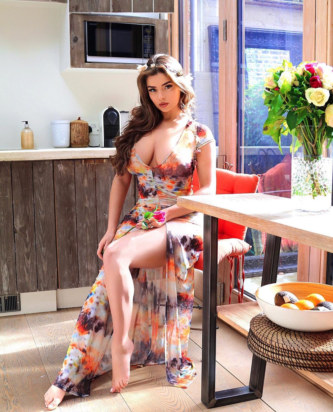Demi Rose Mawby Beautiful In Sexy Dress