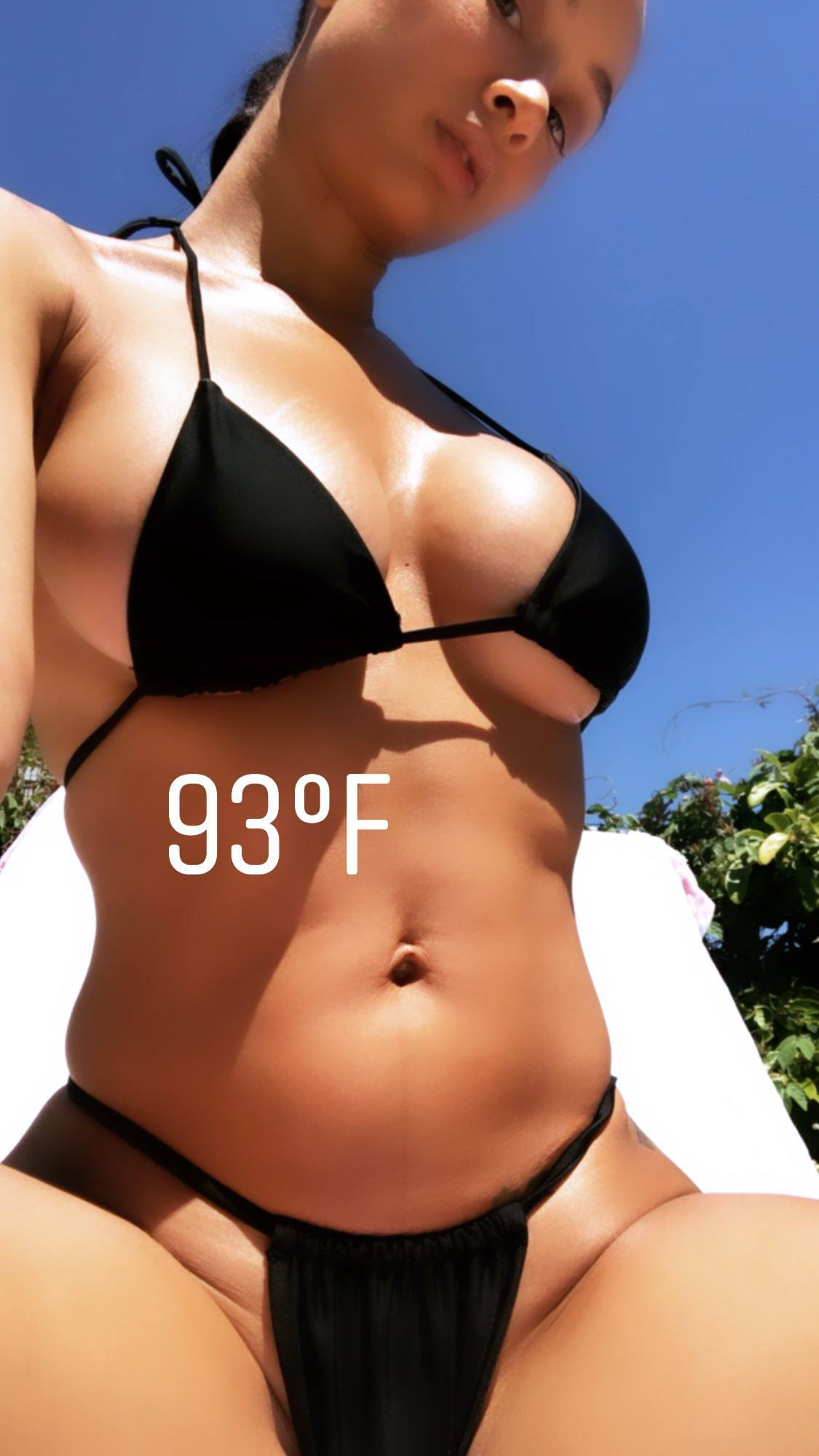 Dray Michele Toned Body And Lovely Boobs In Black Bikini