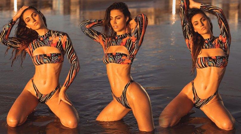Stephanie Rayner Sexy Tiny Bikini