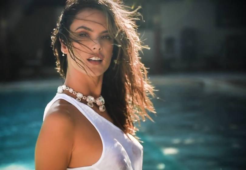 Alessandra Ambrosio Sexy Wet T Shirt