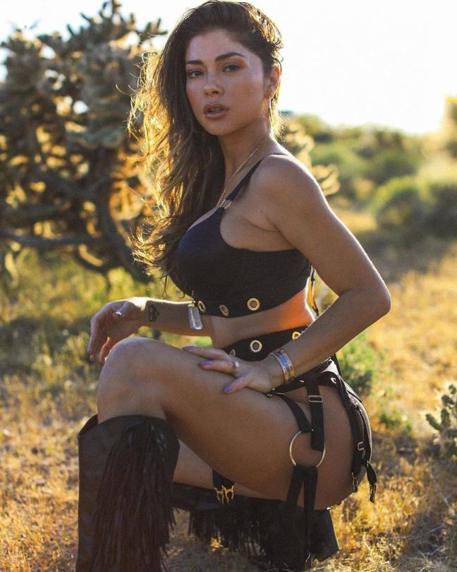 Arianny Celeste Hot In Boots And Leather Underwear