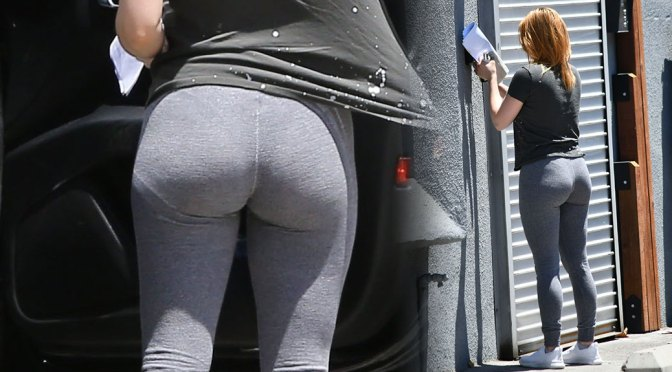 Ariel Winter – Hot Big Ass in Tight Sweatpants Out in Los Angeles
