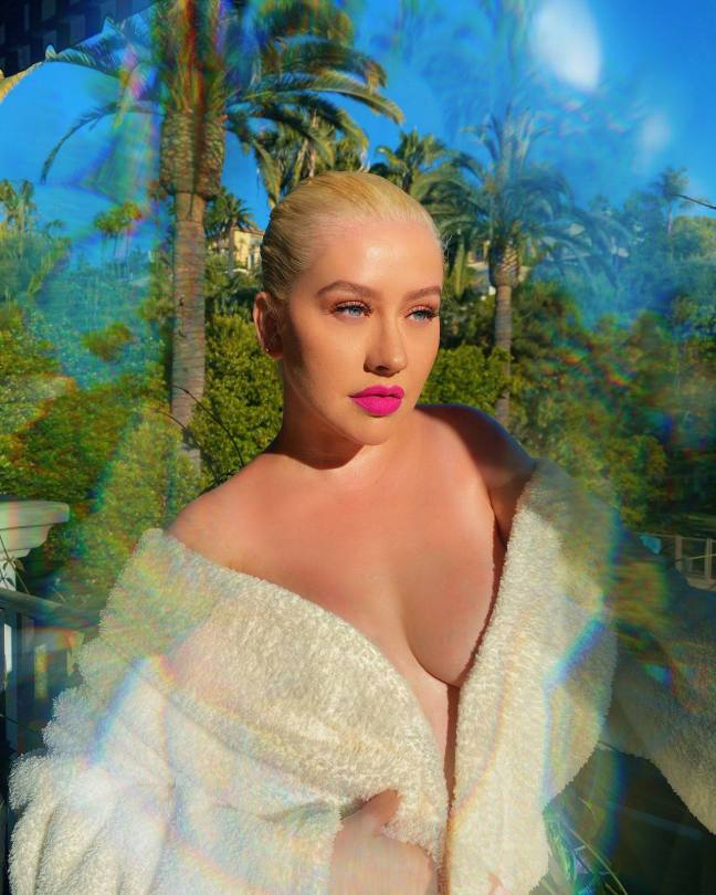 Christina Aguilera Big Braless Boobs