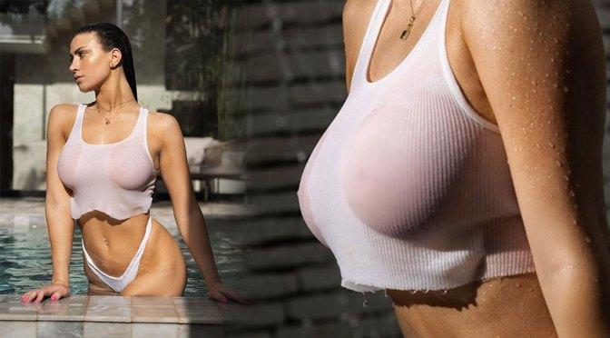 Jessica Bartlett – Hot Boobs in Wet T-shirt Photoshoot
