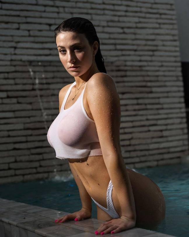 Jessica Bartlett Sexy In Wet T Shirt