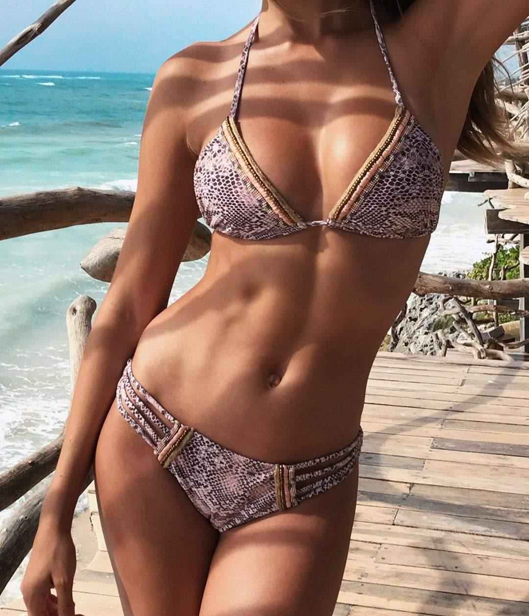 Josephine Skriver Hot Toned Body In Bikini