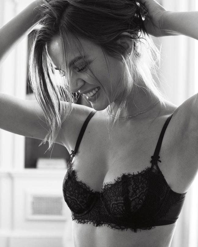 Josephine Skriver Sexy In Black Bra