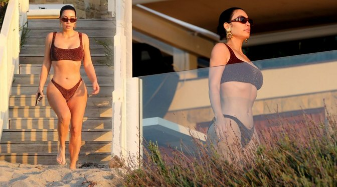 Kim Kardashian Sexy Curves In Bikini