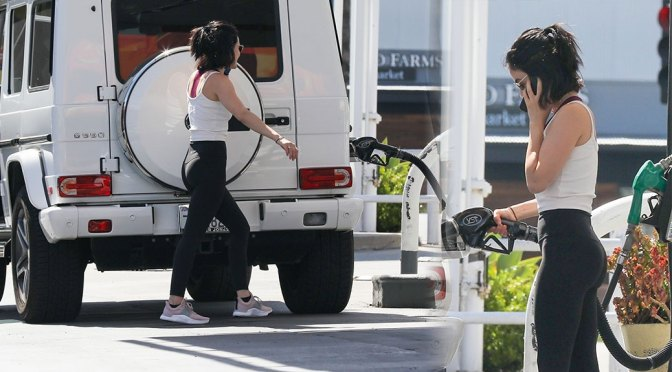 Lucy Hale Hot Ass At Pump