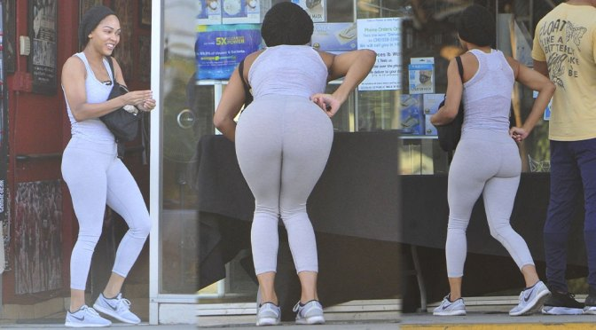 Meagan Good – Beautiful Big Ass in Leggings Out in West Hollywood