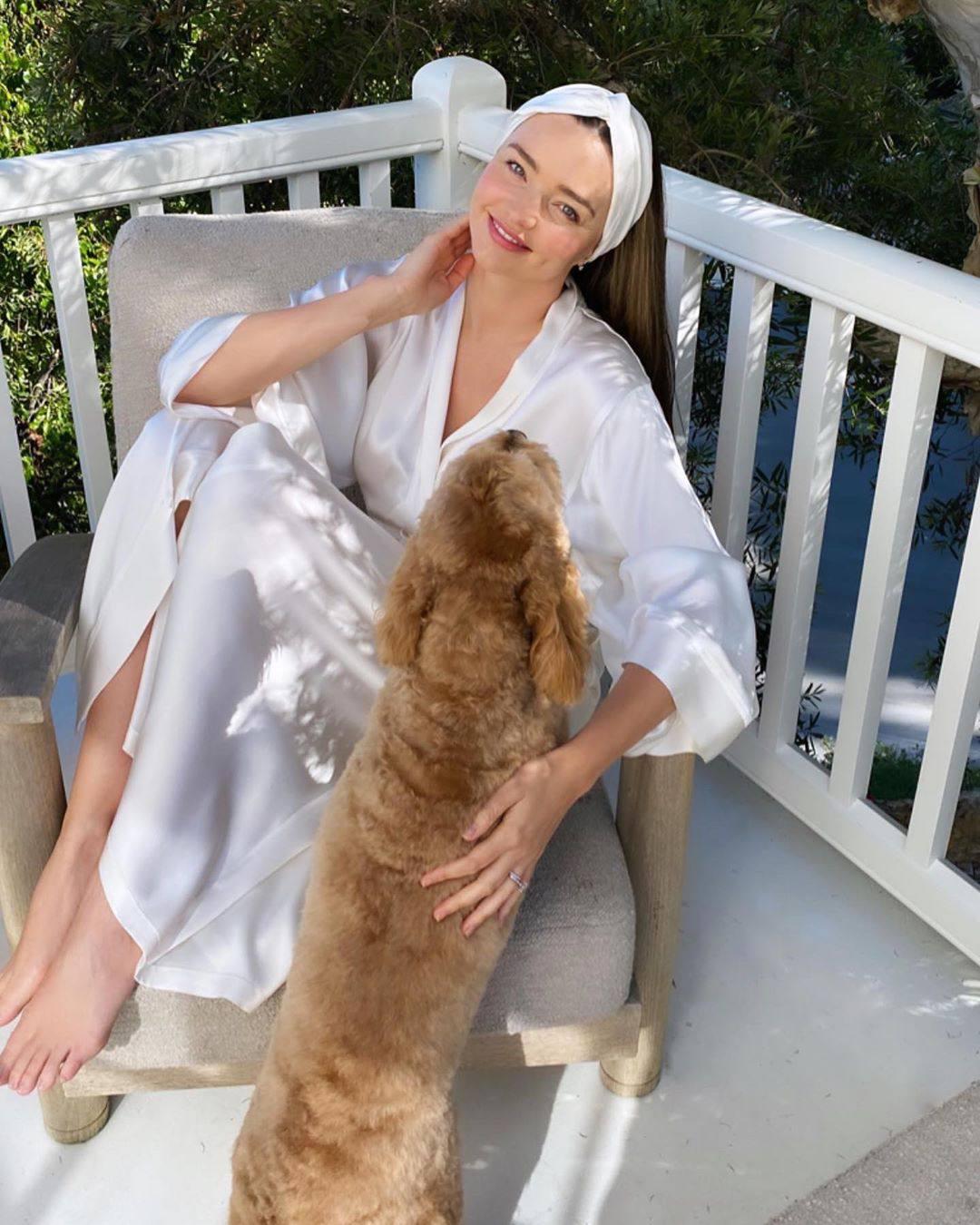 Miranda Kerr Beautiful In Robe