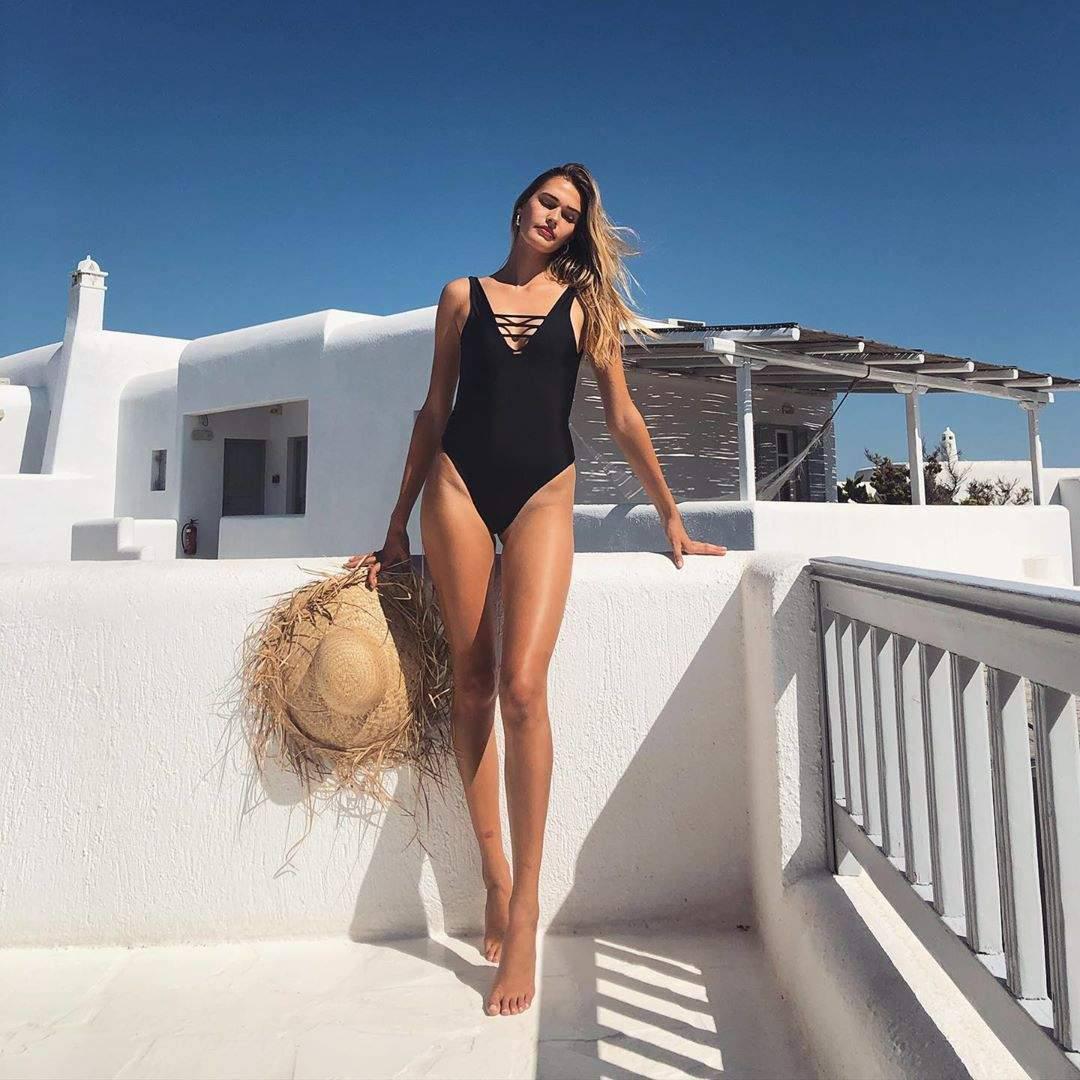 Noel Berry Sexy Black Swimsuit