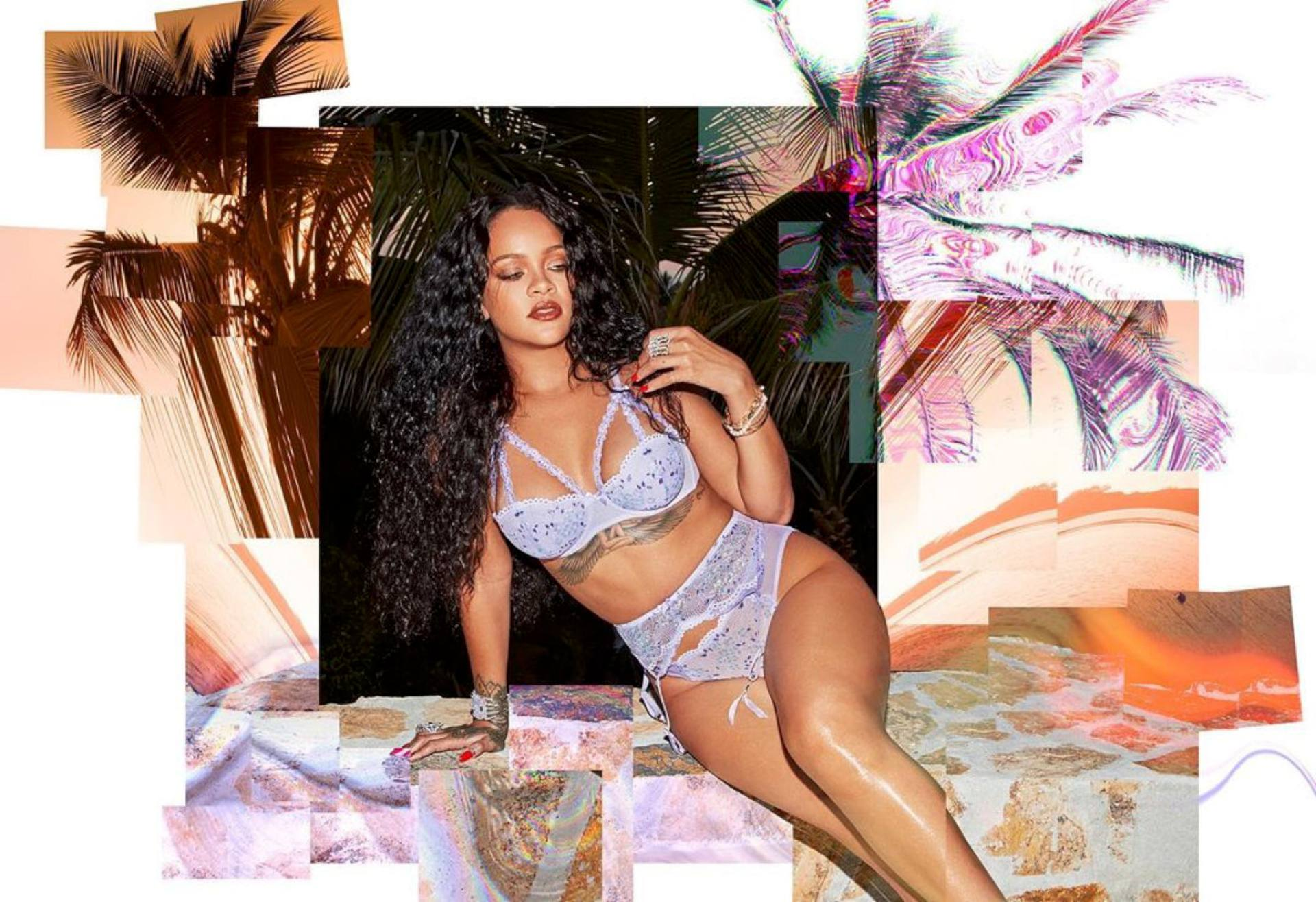 Rihanna Hot Body In Lingerie