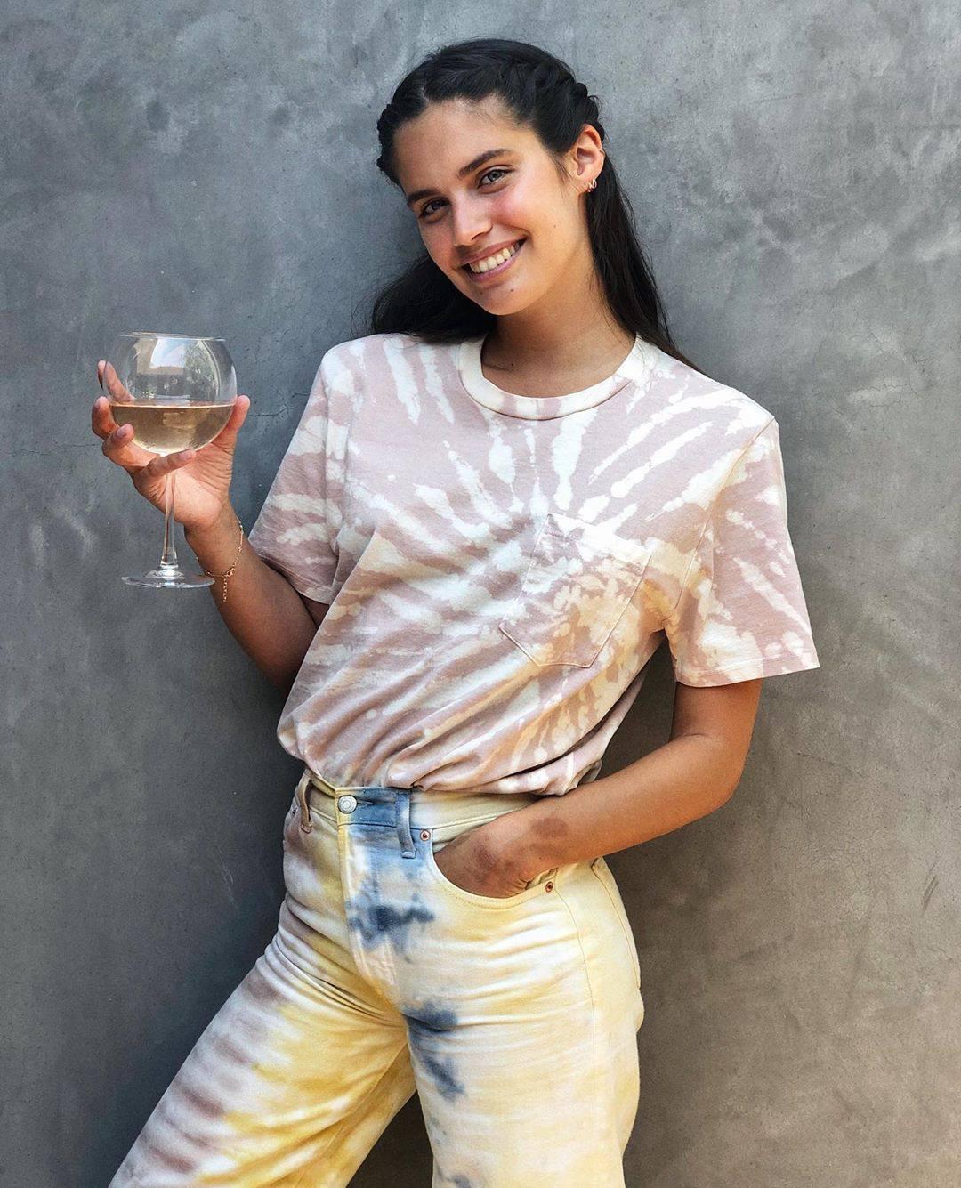 Sara Sampaio Pretty With Glass Of Wine