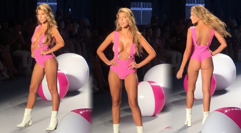 Kara Del Toro Hot Big Tits On Catwalk