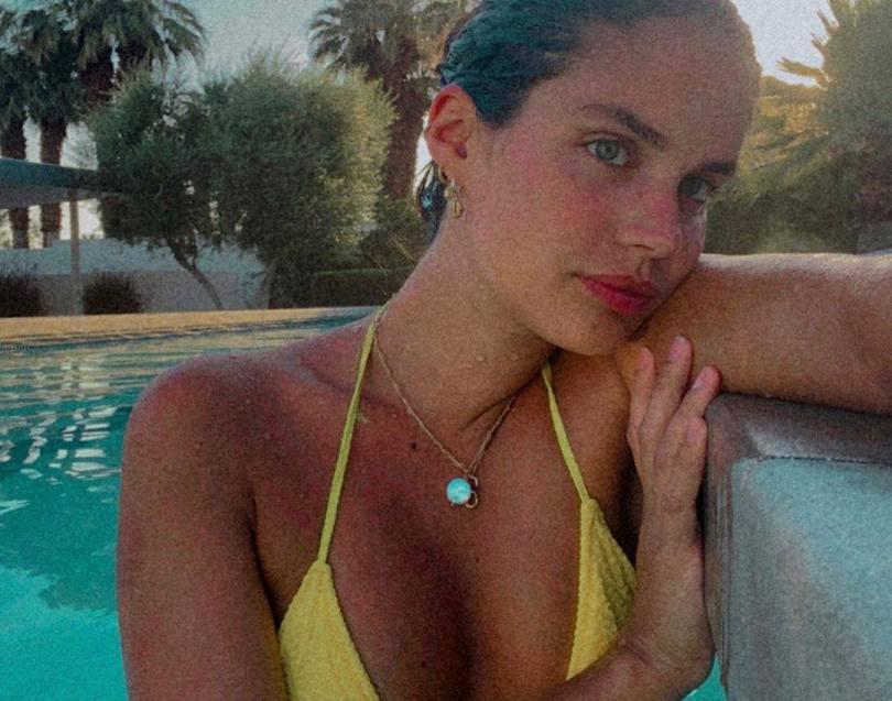 Sara Sampaio Hot In Yellow Bikini