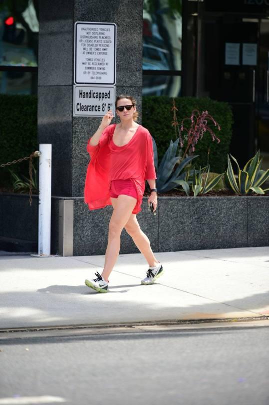 Shantel Vansanten Hot In Red Shorts