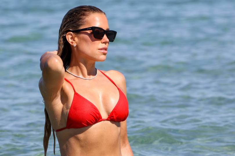 Sylvie Meis Sexy In Red Bikini